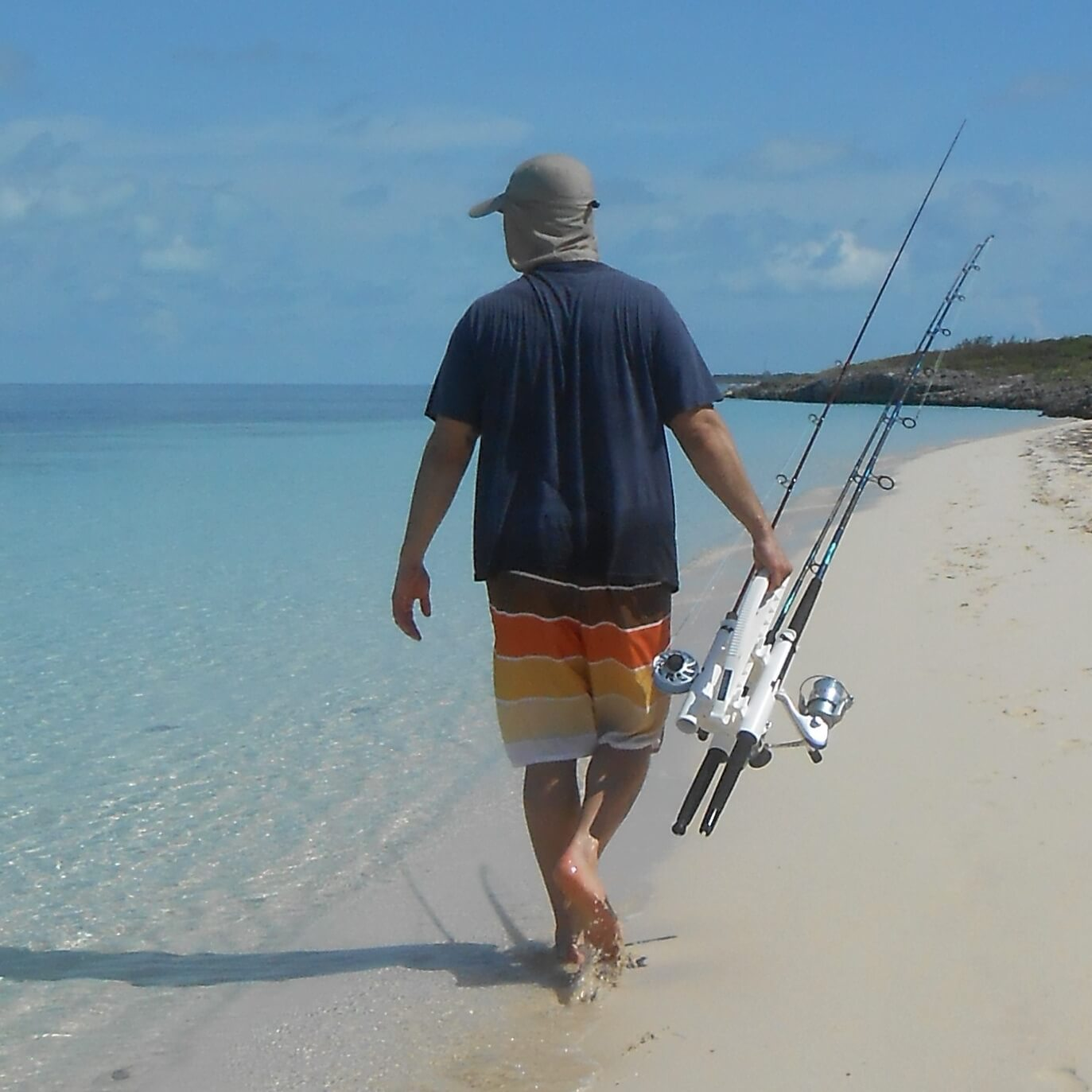 Carry Fishing Rods to the Beach = Fishing Rod Stand = Fishing Rod Buggy