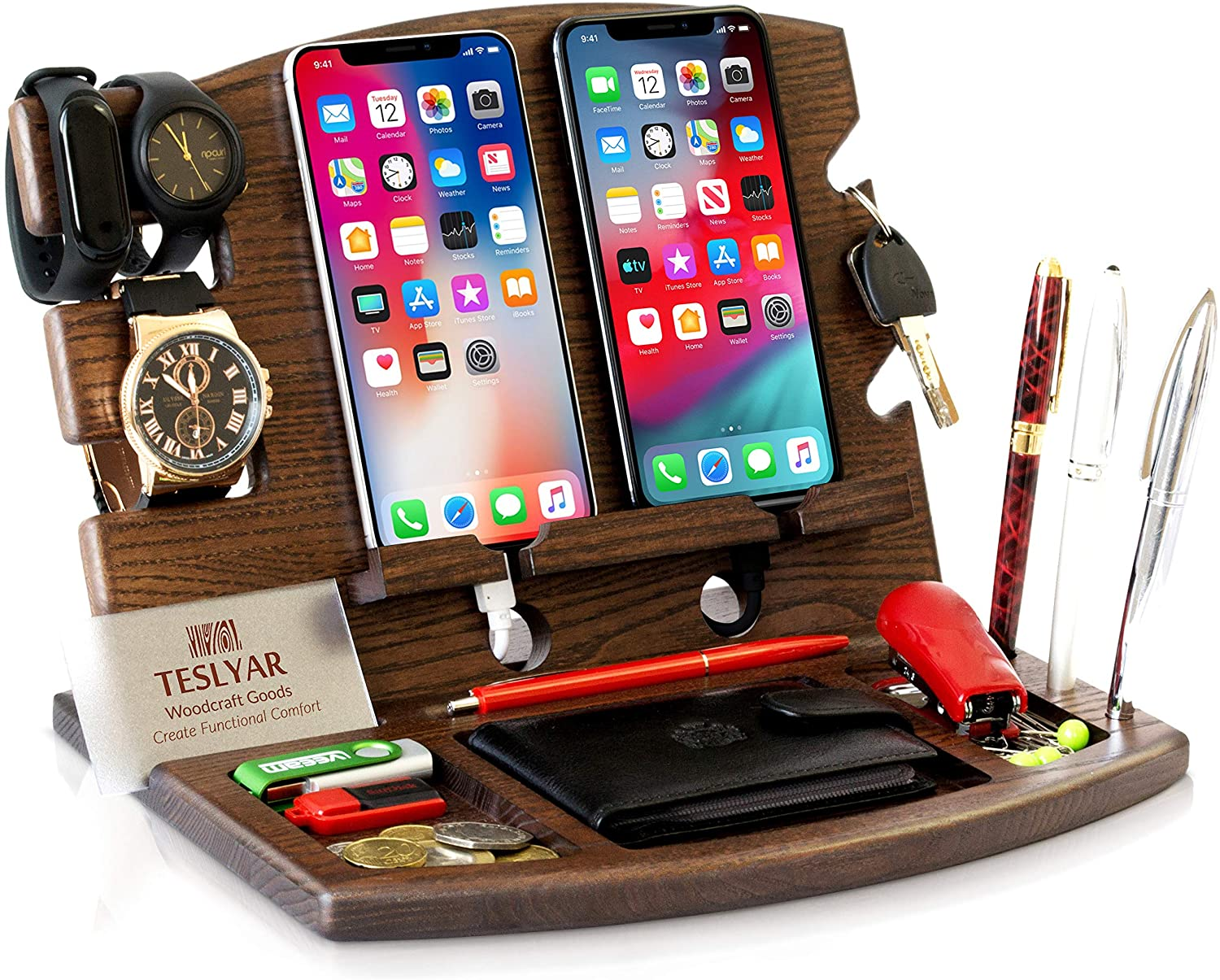 DUAL PHONE HOLDER + iPhone Holder + Android Phone Holder
