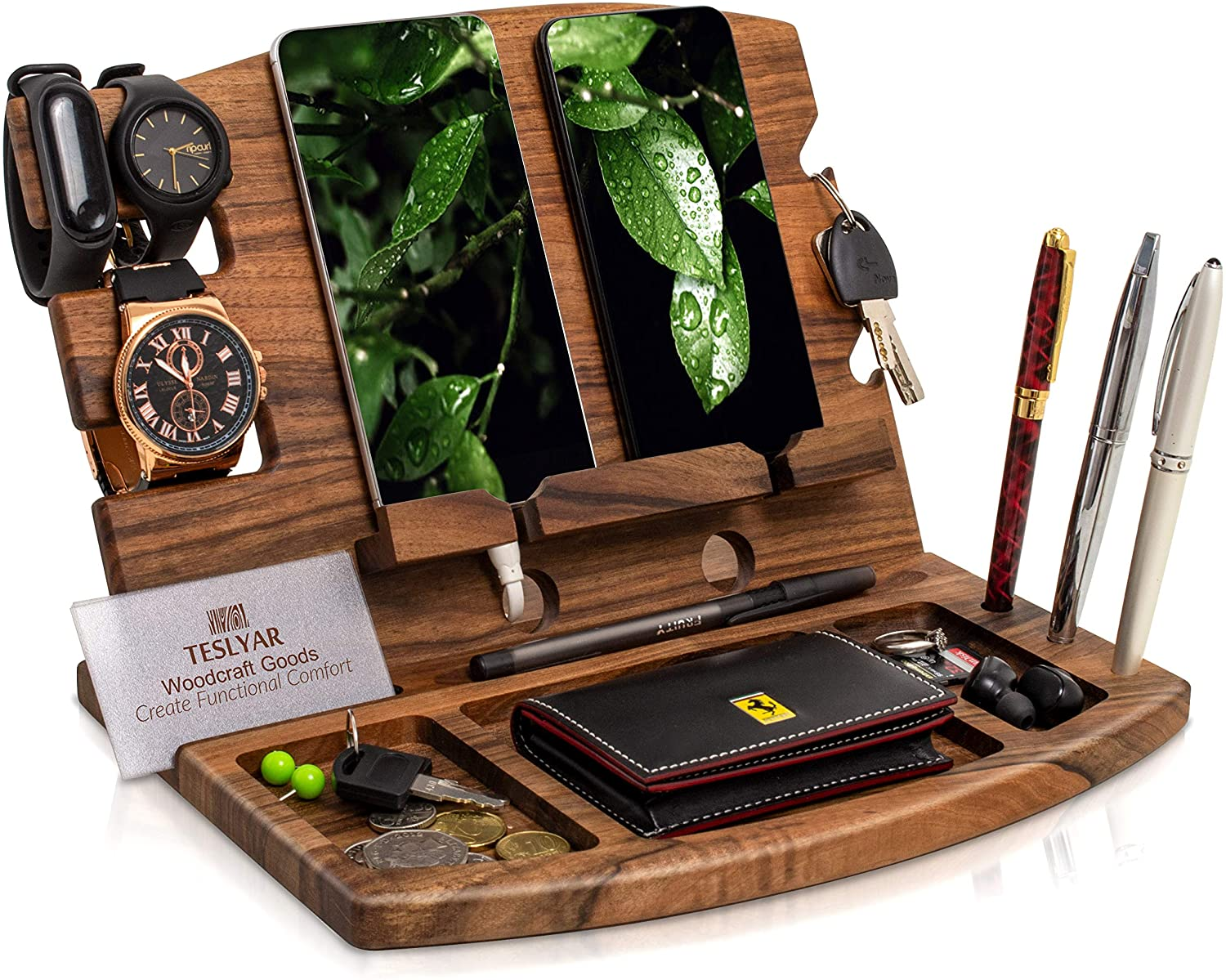 Mens Gifts Phone Holder made of Wood