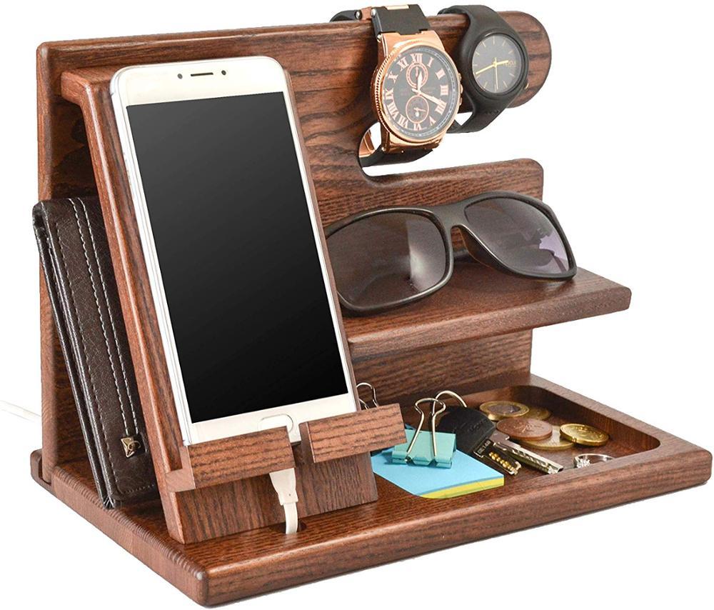 Best Design Phone Holder and Docking Station in Australia = Smart Wood Designs = Wood Phone Docking Station = Desktop Organizer